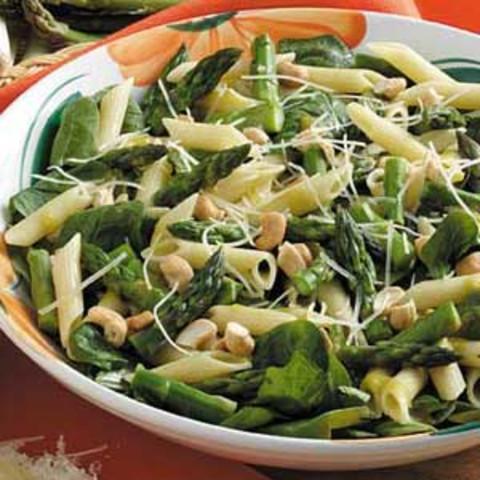 Warm Asparagus Spinach Salad Recipe