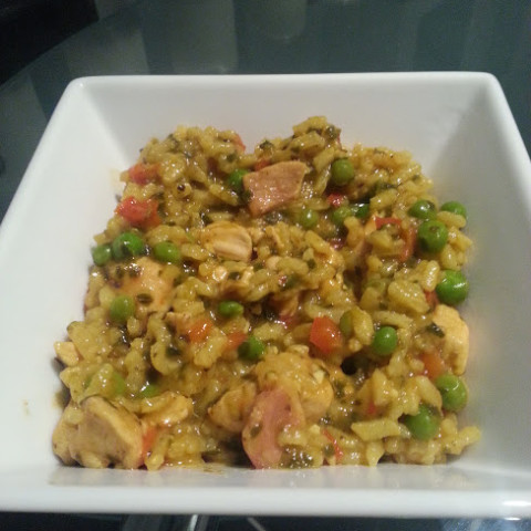 Weight Watchers Chicken & Bacon Paella (8 Pro Points)