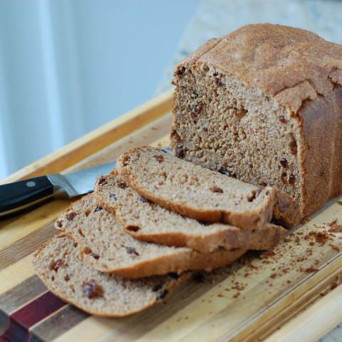 Whole-Wheat Cinnamon Raisin Bread (for Bread Machine)