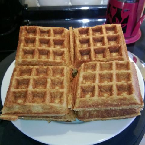 Whole Wheat Scottish Oatmeal Buttermilk Waffles