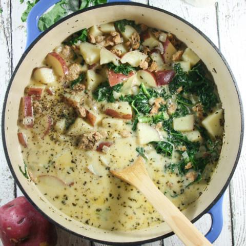 Whole30 Zuppa Toscana, Potato Soup with Kale