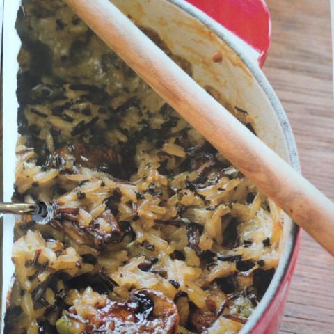 Wild Rice Casserole with Mushrooms