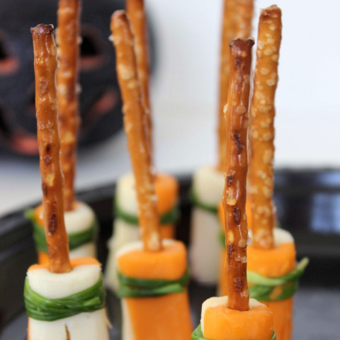 Witch's Broomstick Snacks | Easy Halloween Party Snacks