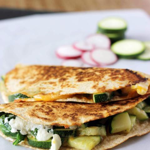 Zucchini and Spinach Quesadilla