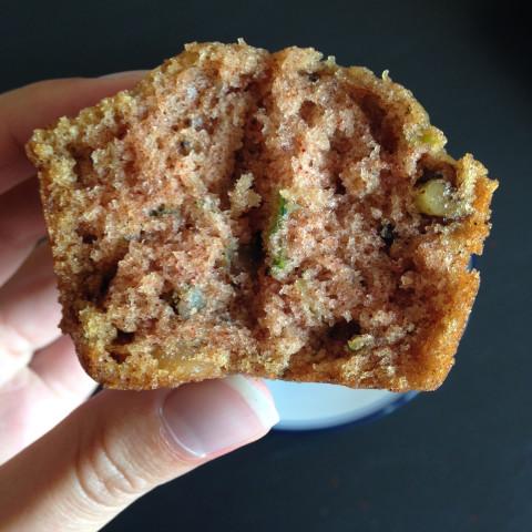 Zucchini Walnut Spice Muffins