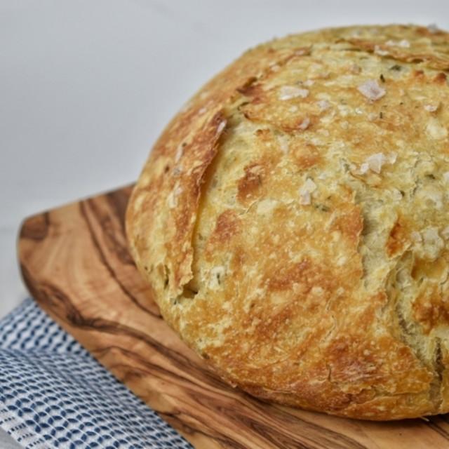 No-Knead Lemon-Herb Bread