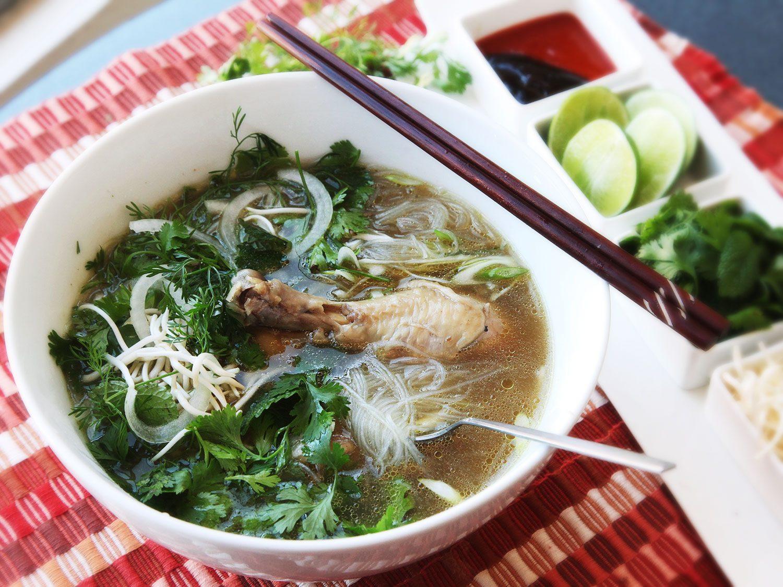 30-Minute Pressure Cooker Pho Ga (Vietnamese Chicken Noodle Soup) Recipe