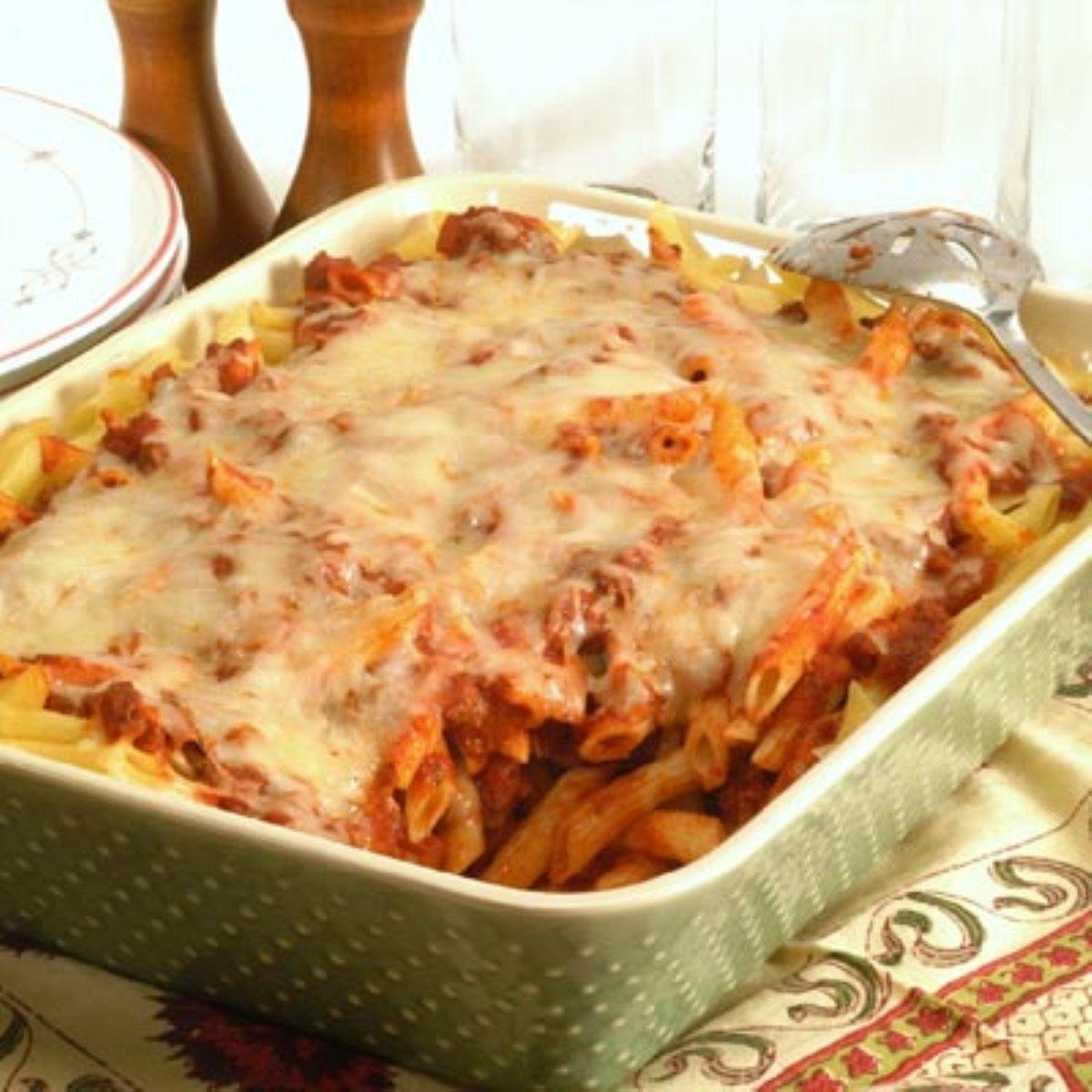 Beef Penne Pasta Casserole