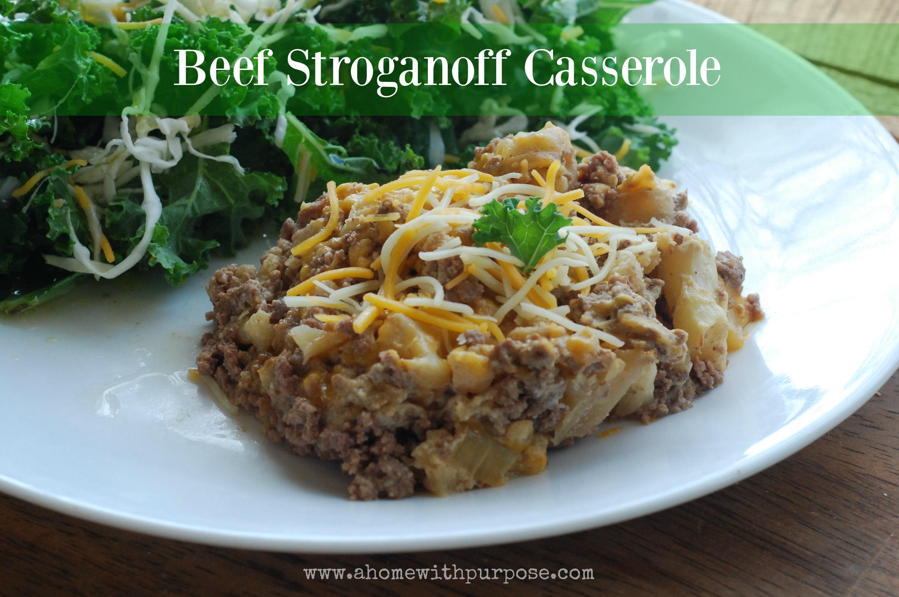 Beef Stroganoff Casserole (S) - BigOven