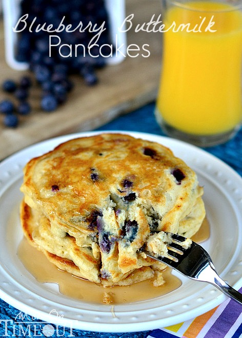 Recipes Course Blueberry Buttermilk Pancakes