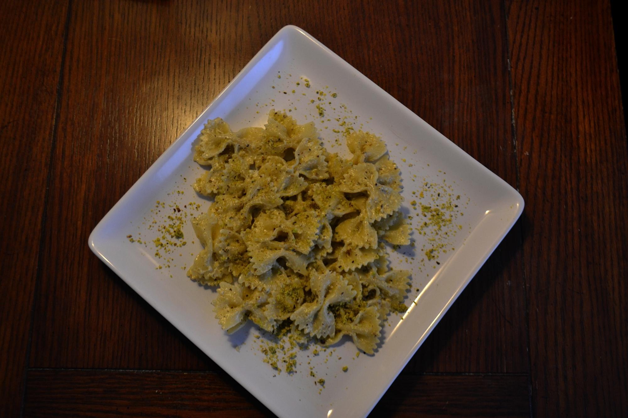 yummly creamy mushroom sauce farfalle with pistachio cream sauce ...