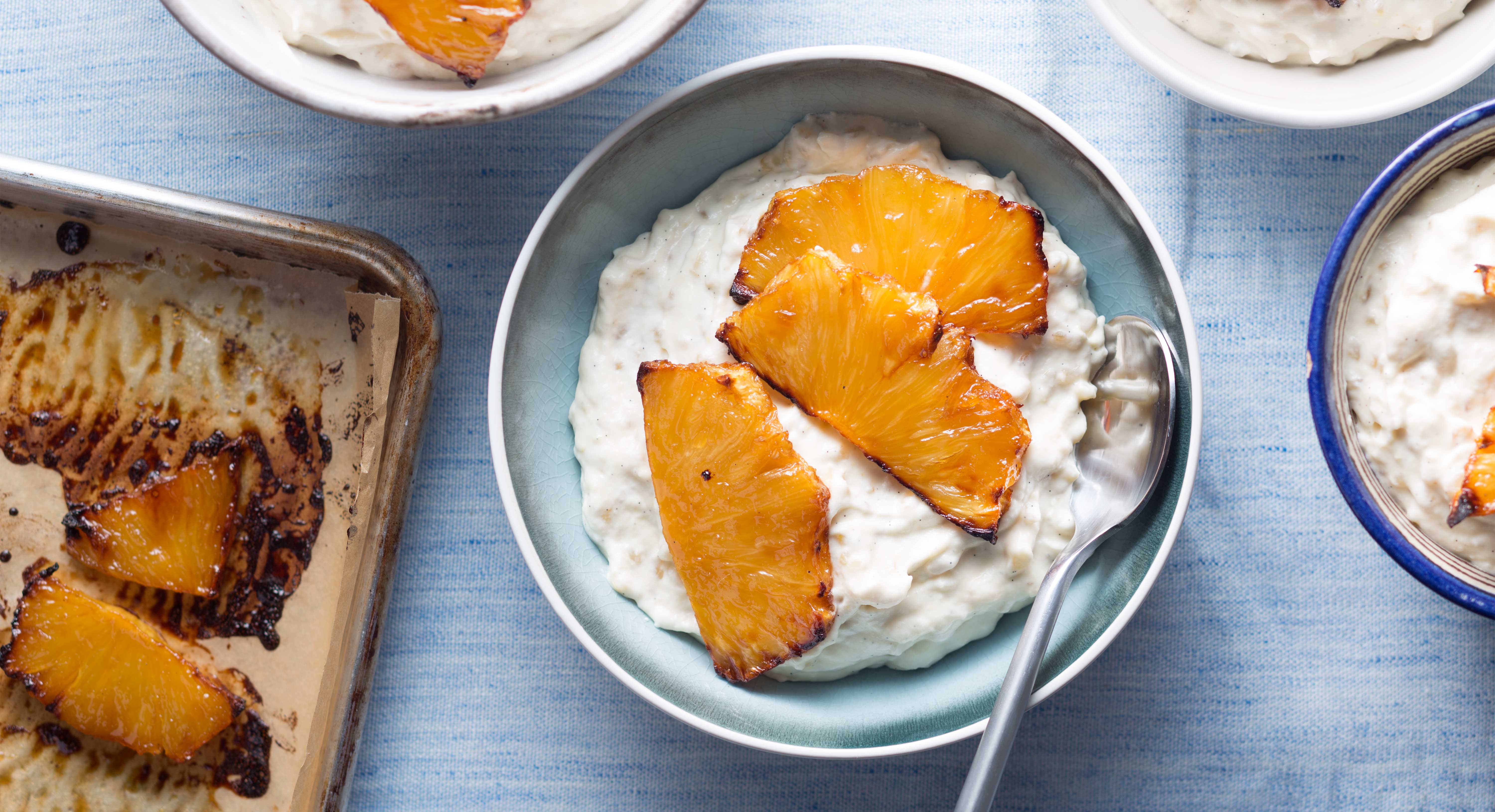 Caramelized Pineapple Adds a Touch of Decadence to Brown Rice Pudding ...
