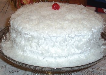 Classic Coconut Cake with White Mountain Coconut Icing