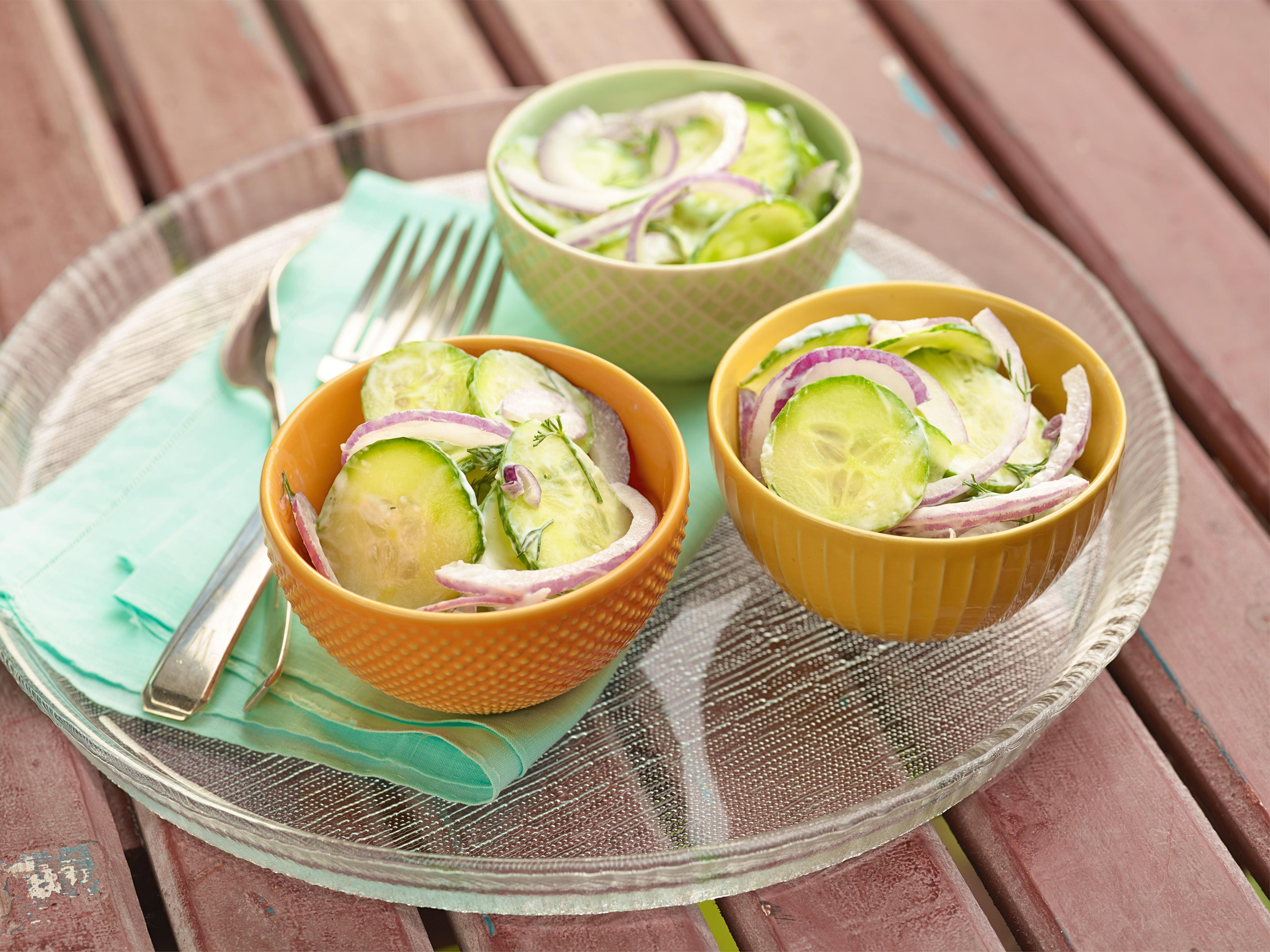 Creamy Cucumber Salad Recipes