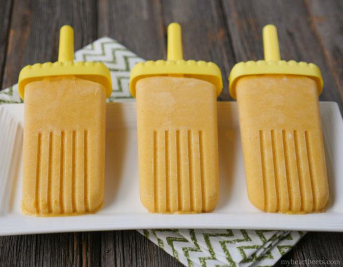 Creamy Mango Ice Pops