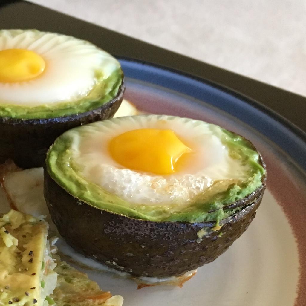 Eggs in Avocado Cups