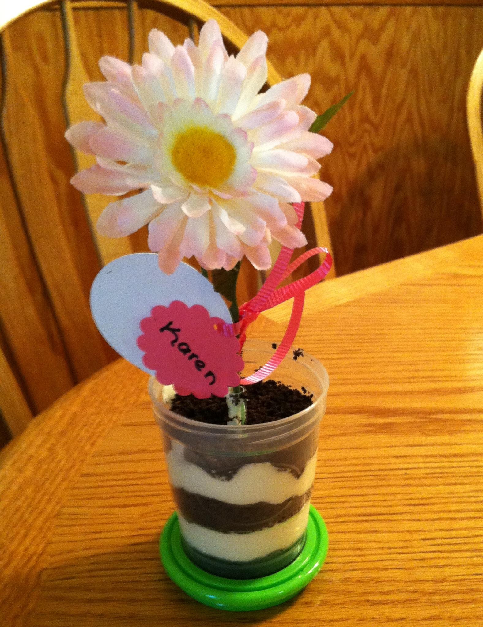 & Flower Pot Dessert