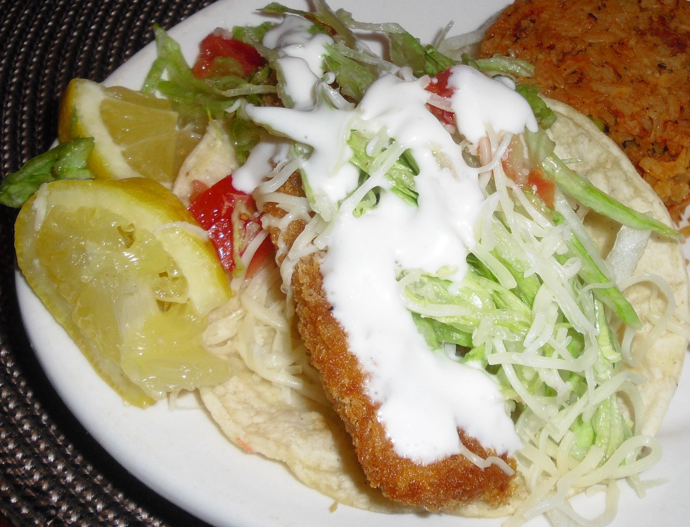 Fried fish tacos recipes for Fried fish taco recipe