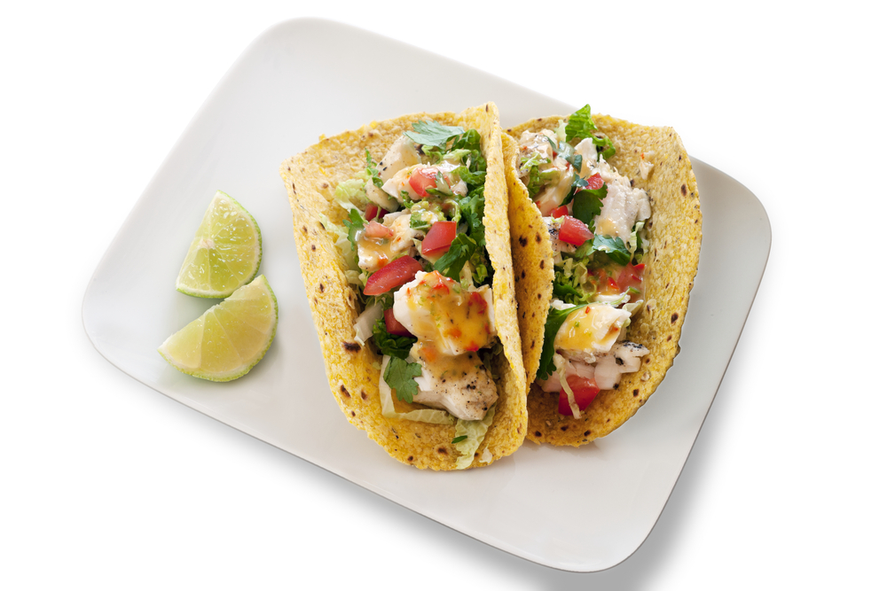 Grilled fish taco dinner menu on bigoven for Good fish tacos near me