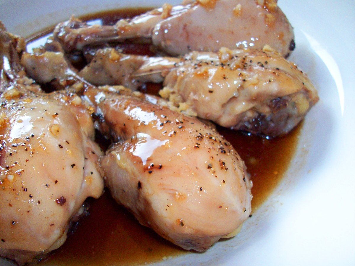 Honey garlic chicken drumsticks bigoven ccuart Image collections