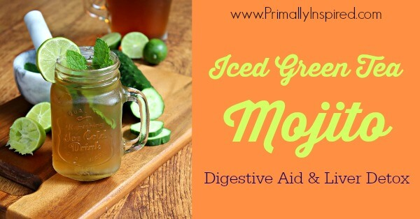 Iced Green Tea Mojito (digestive aid and liver detox ...