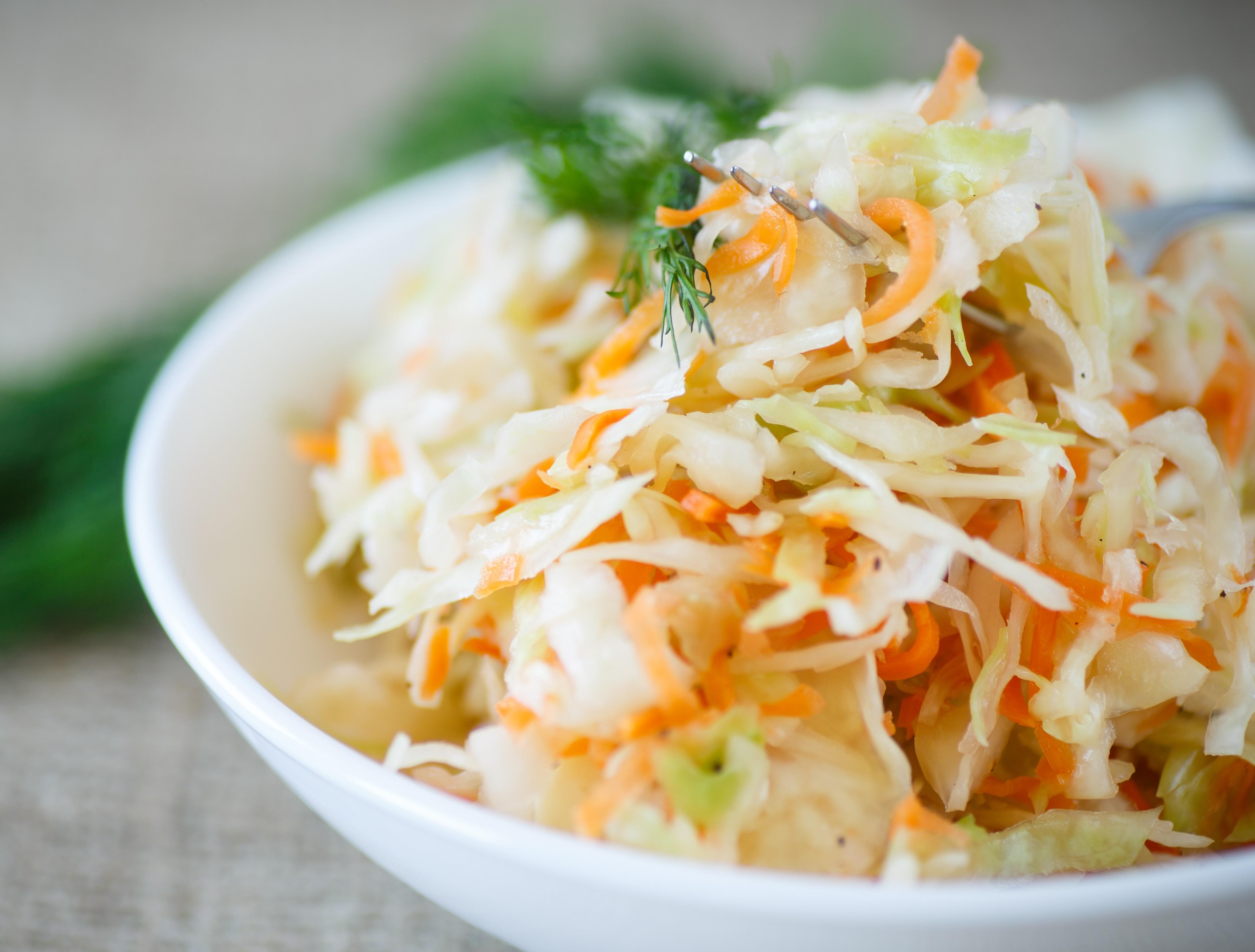 Fresh cabbage salad with vinegar: recipe 93