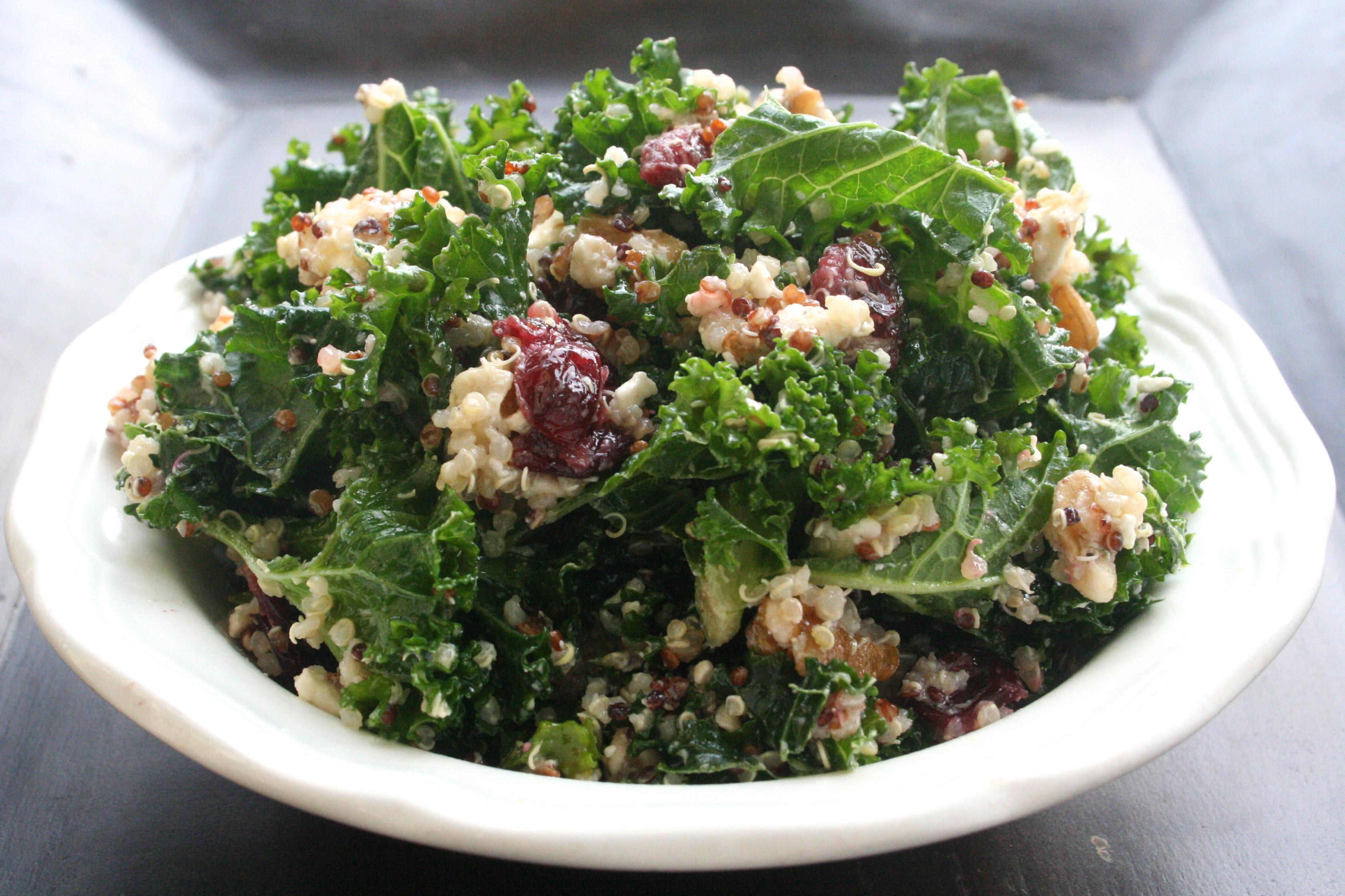 Kale Walnut Cranberry And Quinoa Salad