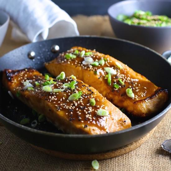 Recipes By Course Main Dish Fish and Shellfish Miso Glazed Salmon