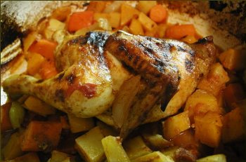 Moroccan-Style Roast Chicken with Vegetables