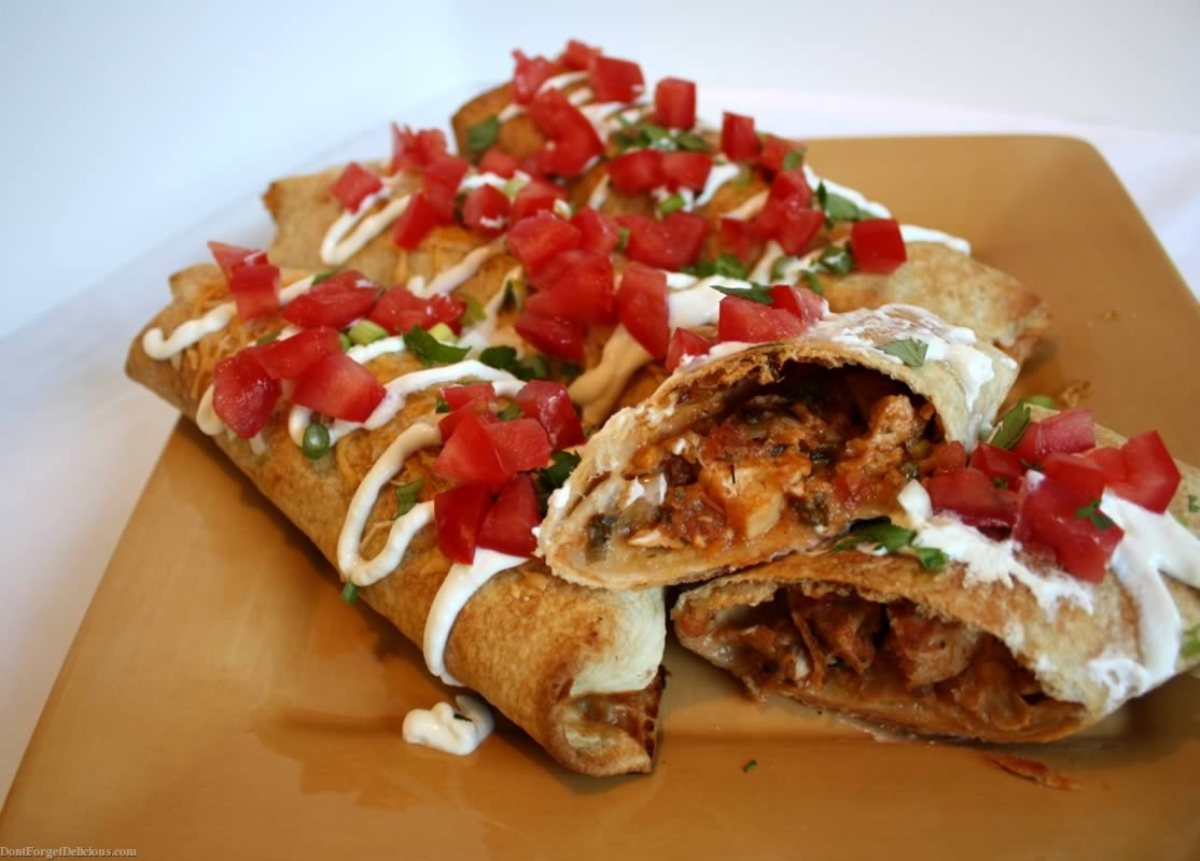 Oven Fried Chimichangas