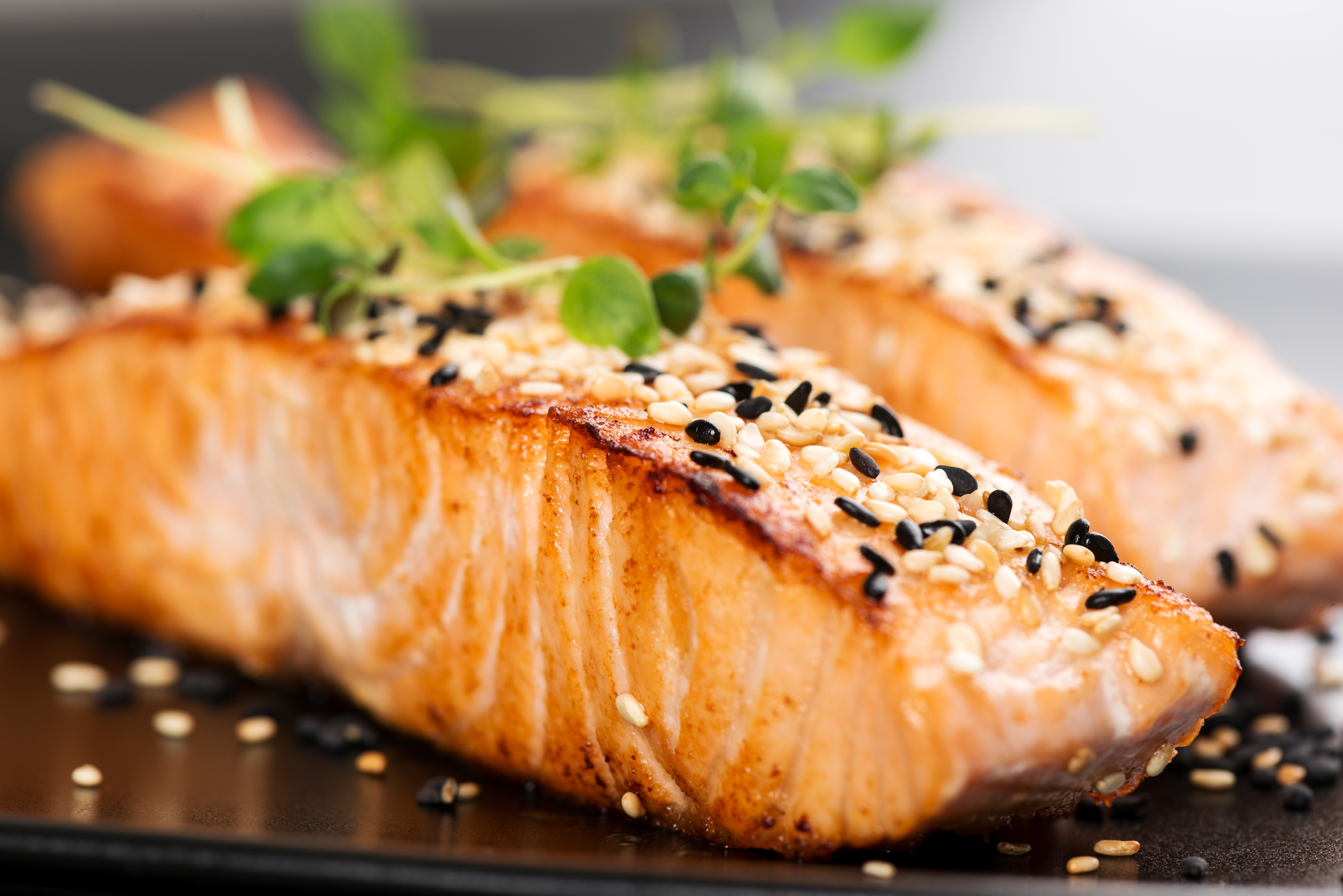 How to fry salmon