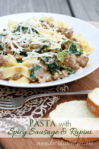 Pasta with Spicy Sausage and Rapini | Recipes