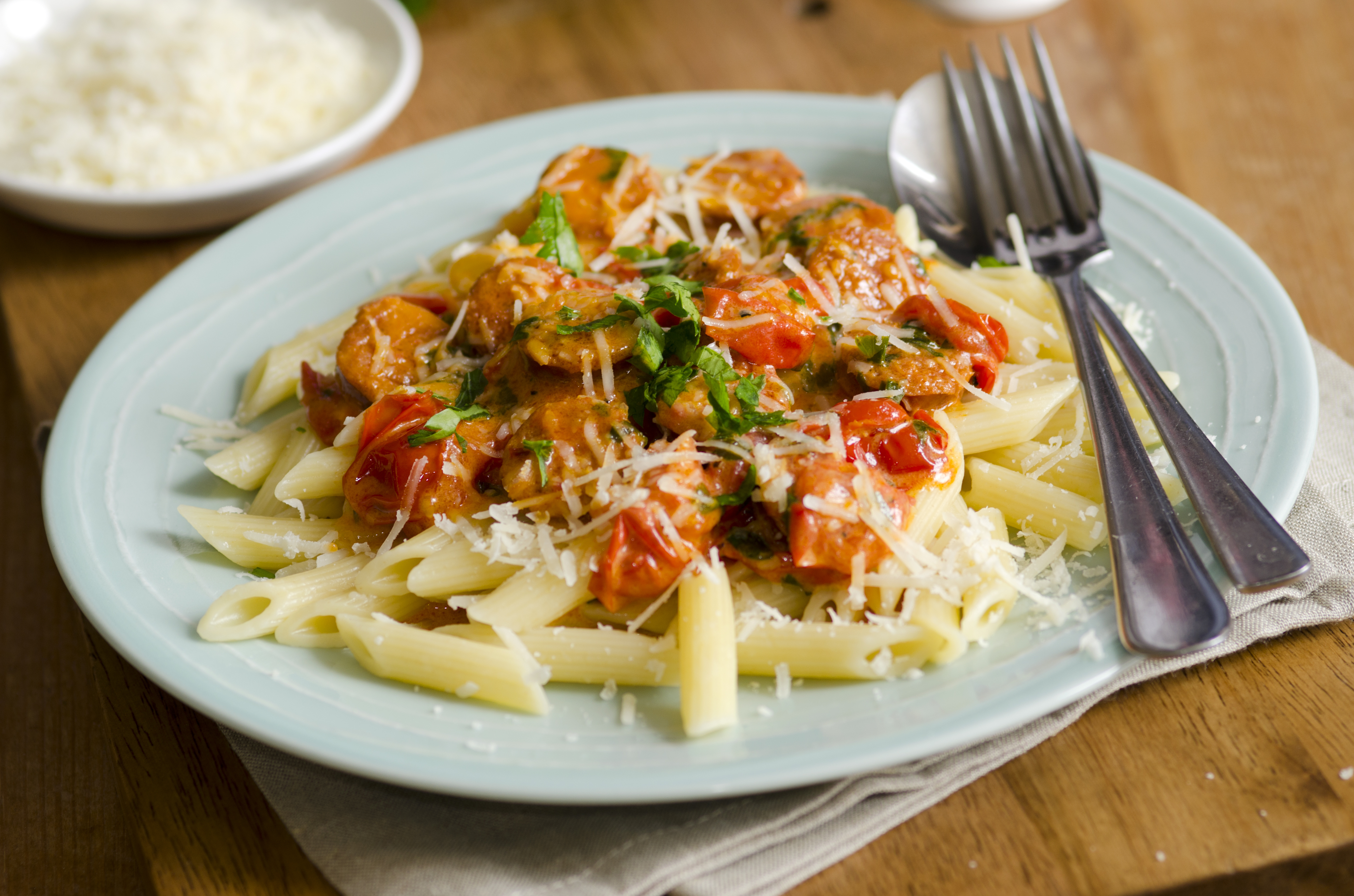 Penne in cream sauce with sausage forumfinder Choice Image