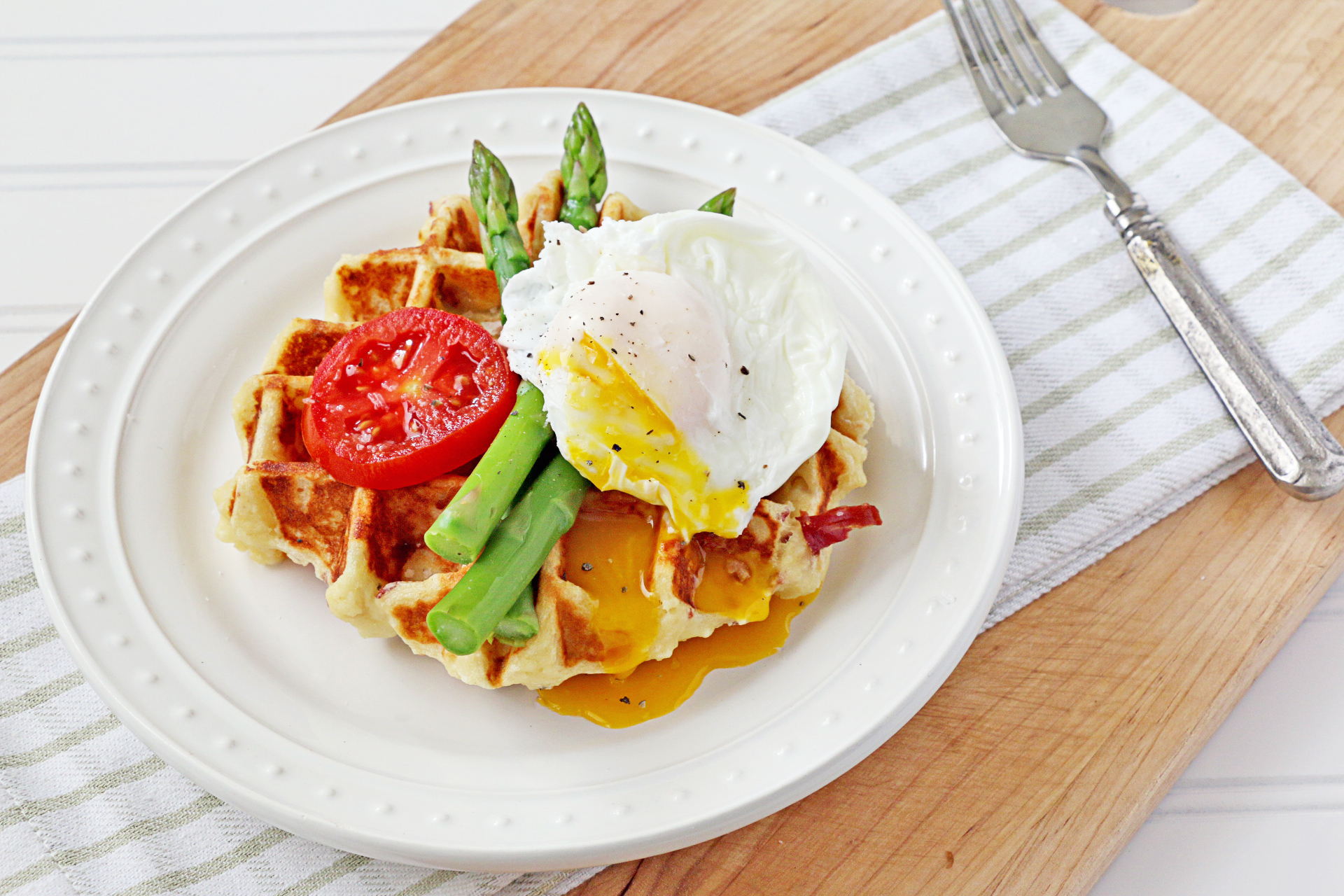 Potato Prosciutto Waffles