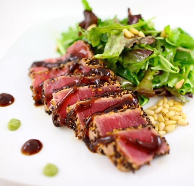 recipe: pan seared tuna with wasabi sauce [7]