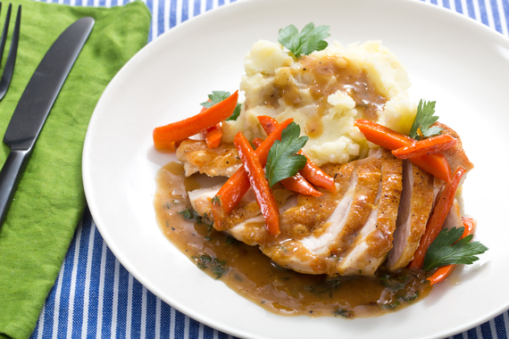 Seared Chicken and Mashed Potatoes with Maple-Glazed ...
