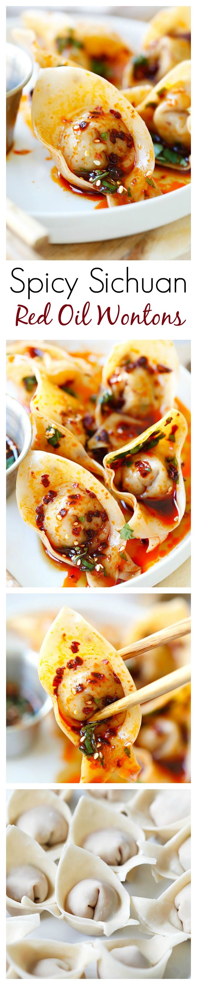 Recipes By Course Sichuan Red Oil Wontons