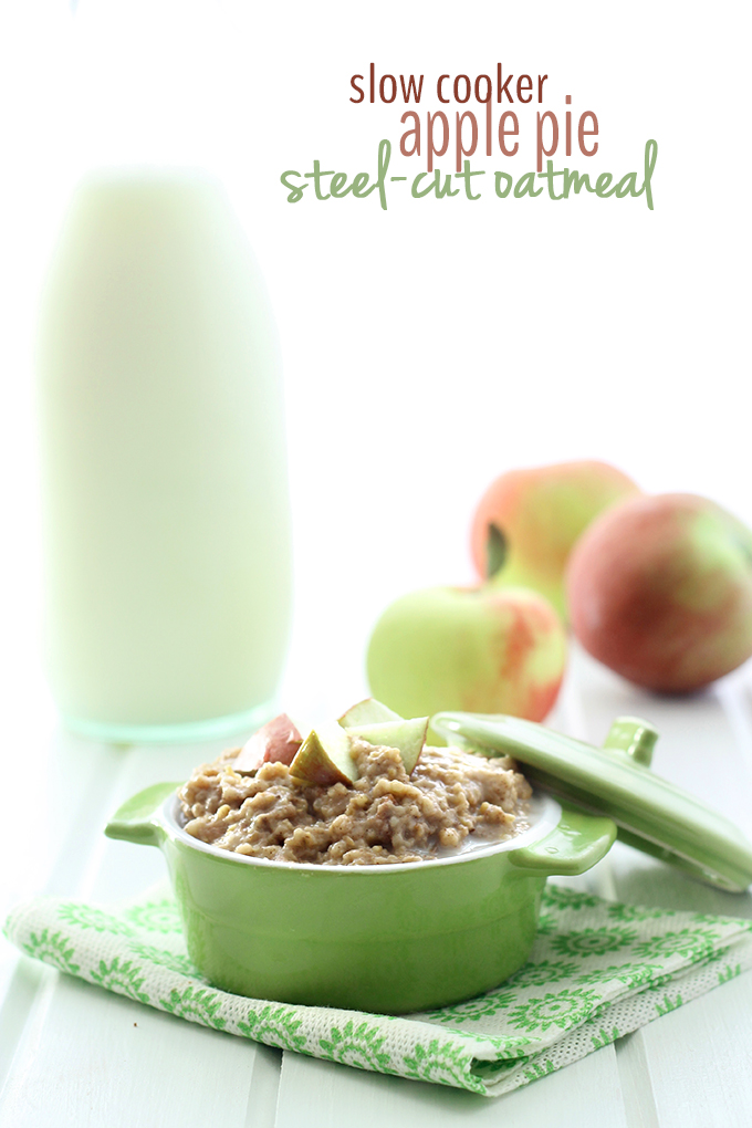 Slow Cooker Apple Pie Steel-Cut Oatmeal - BigOven