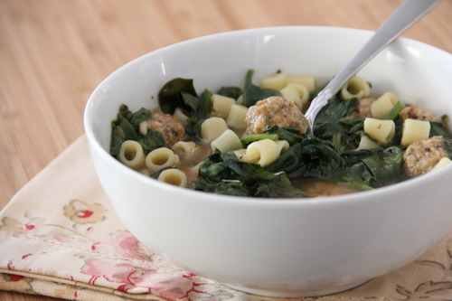 Slow Cooker Italian Sausage Meatball Soup
