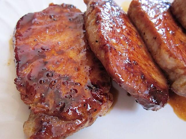 Spicy Glazed Pork Chops