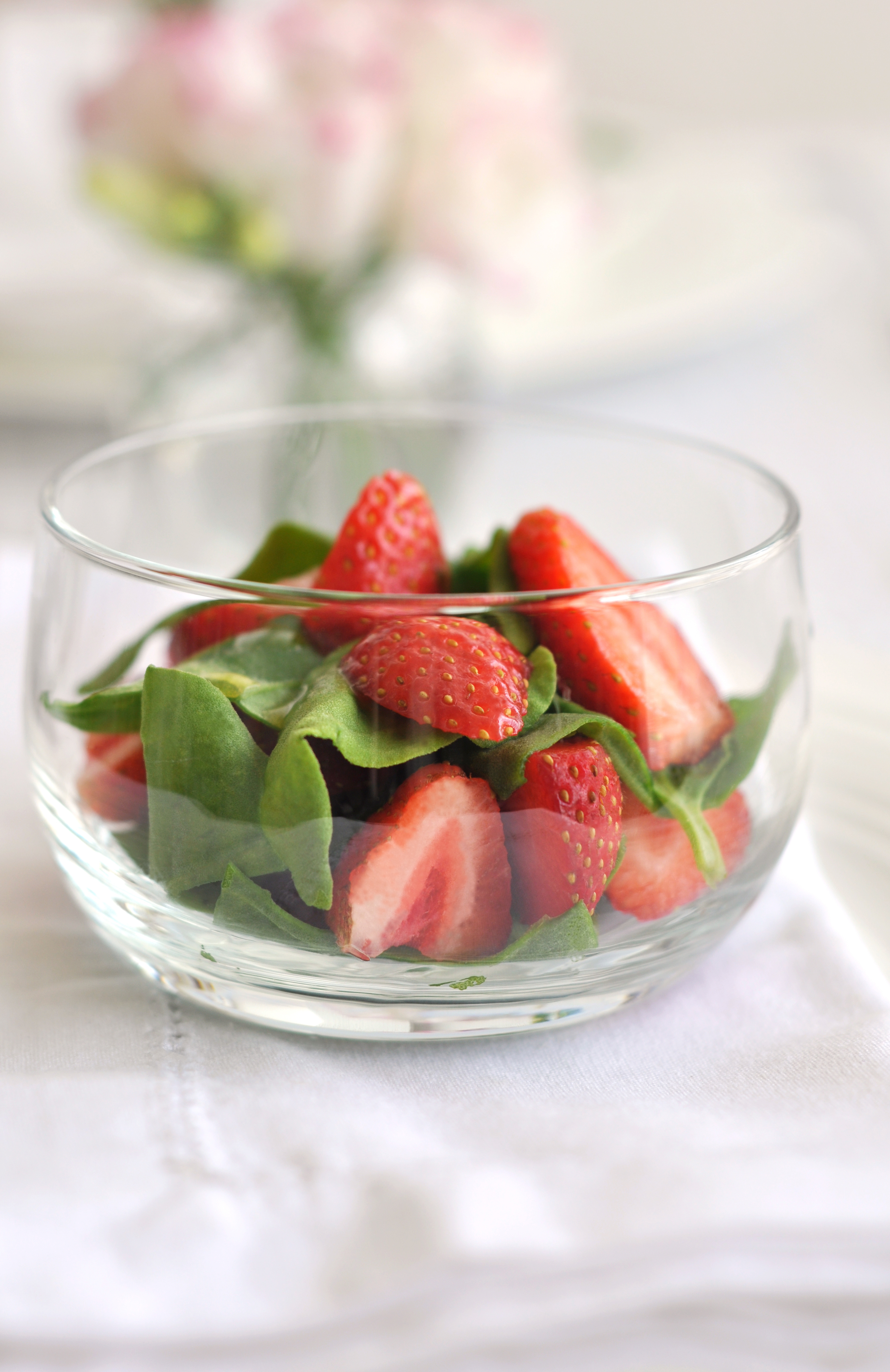 Spinach and Strawberry Salad with Pepper Vinaigrette