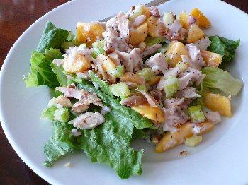 Steve's Chicken Peach Salad