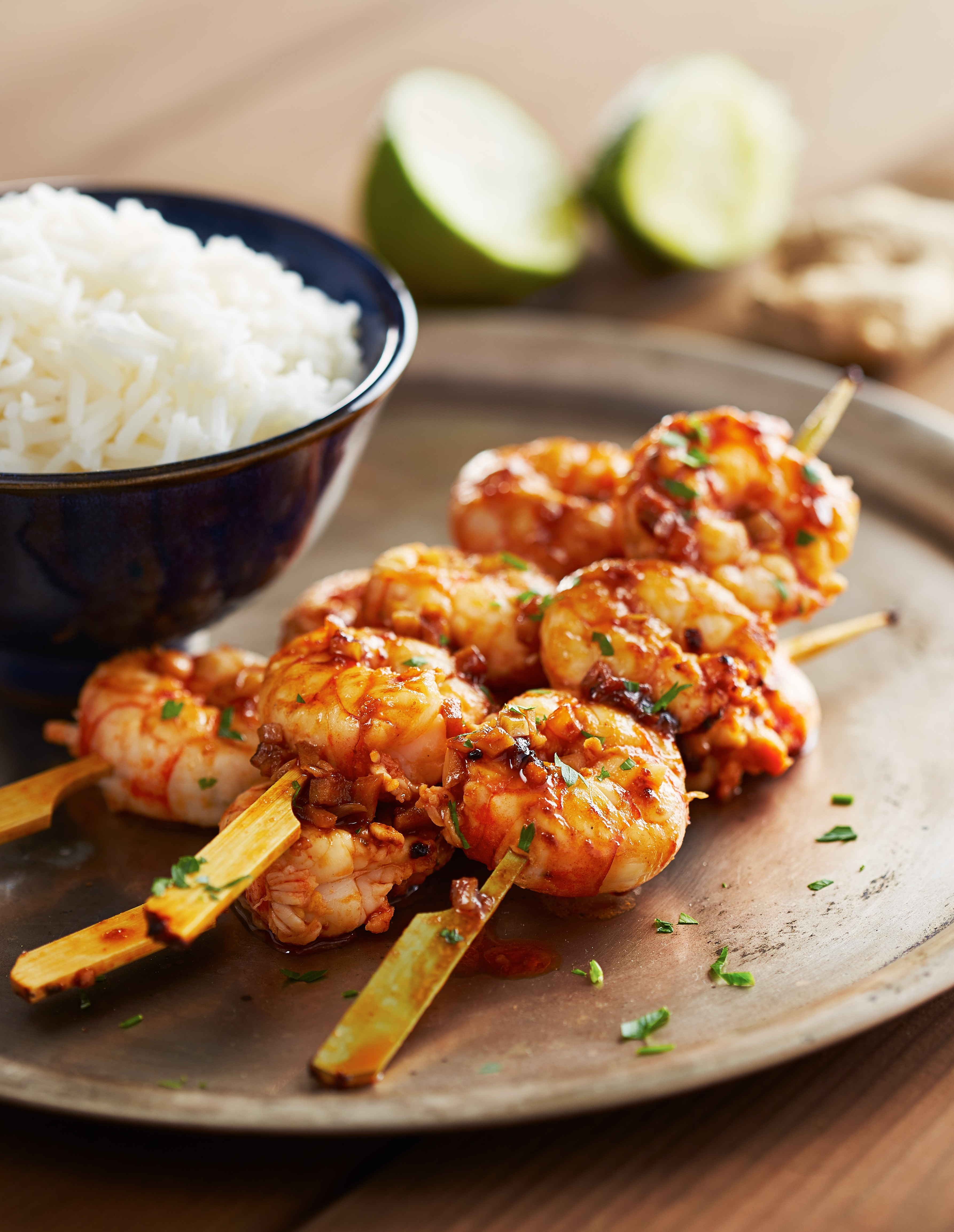 Tequila-Orange Grilled Shrimp