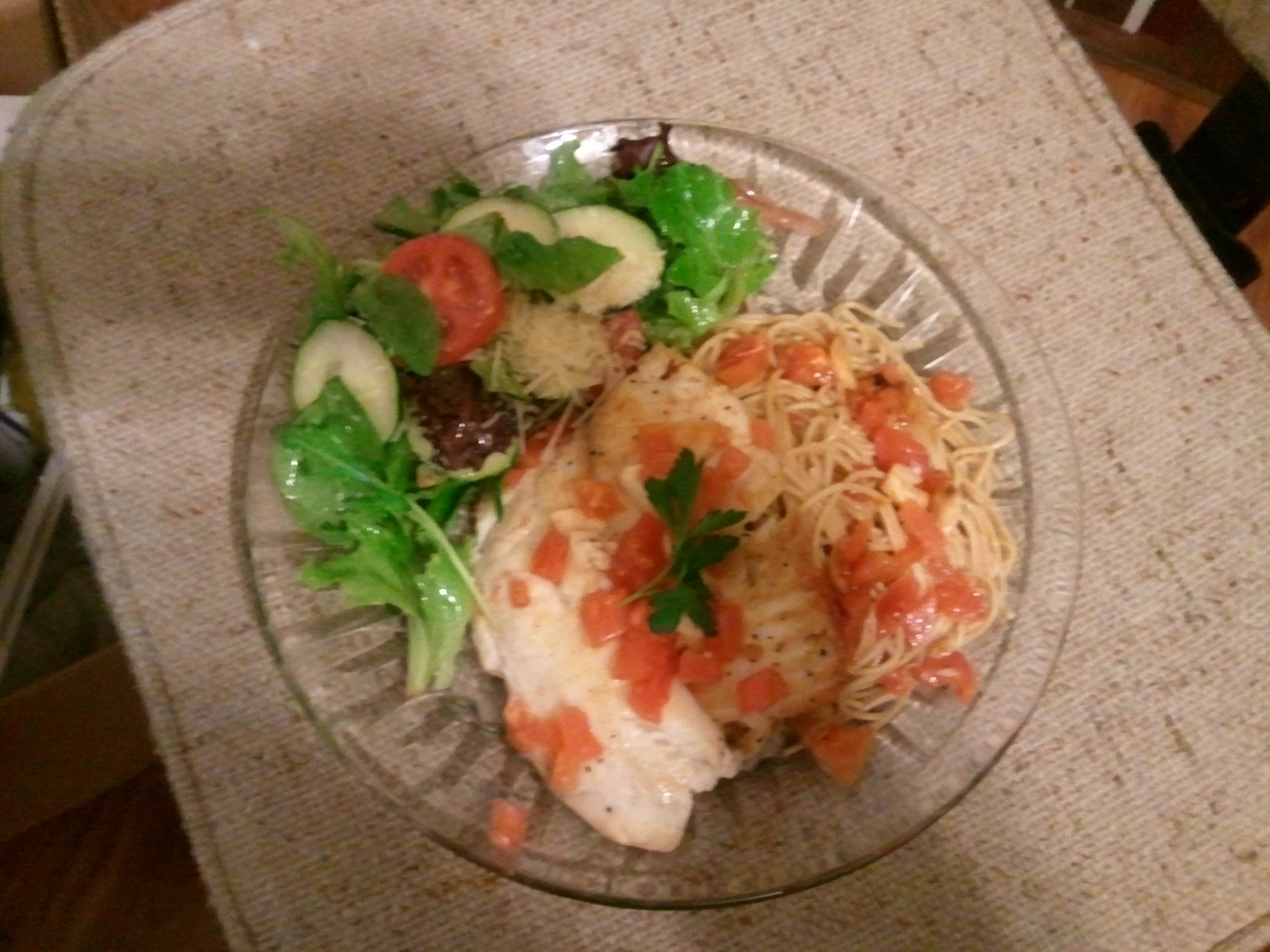 Tilapia in Garlic and Tomatoes Sauce