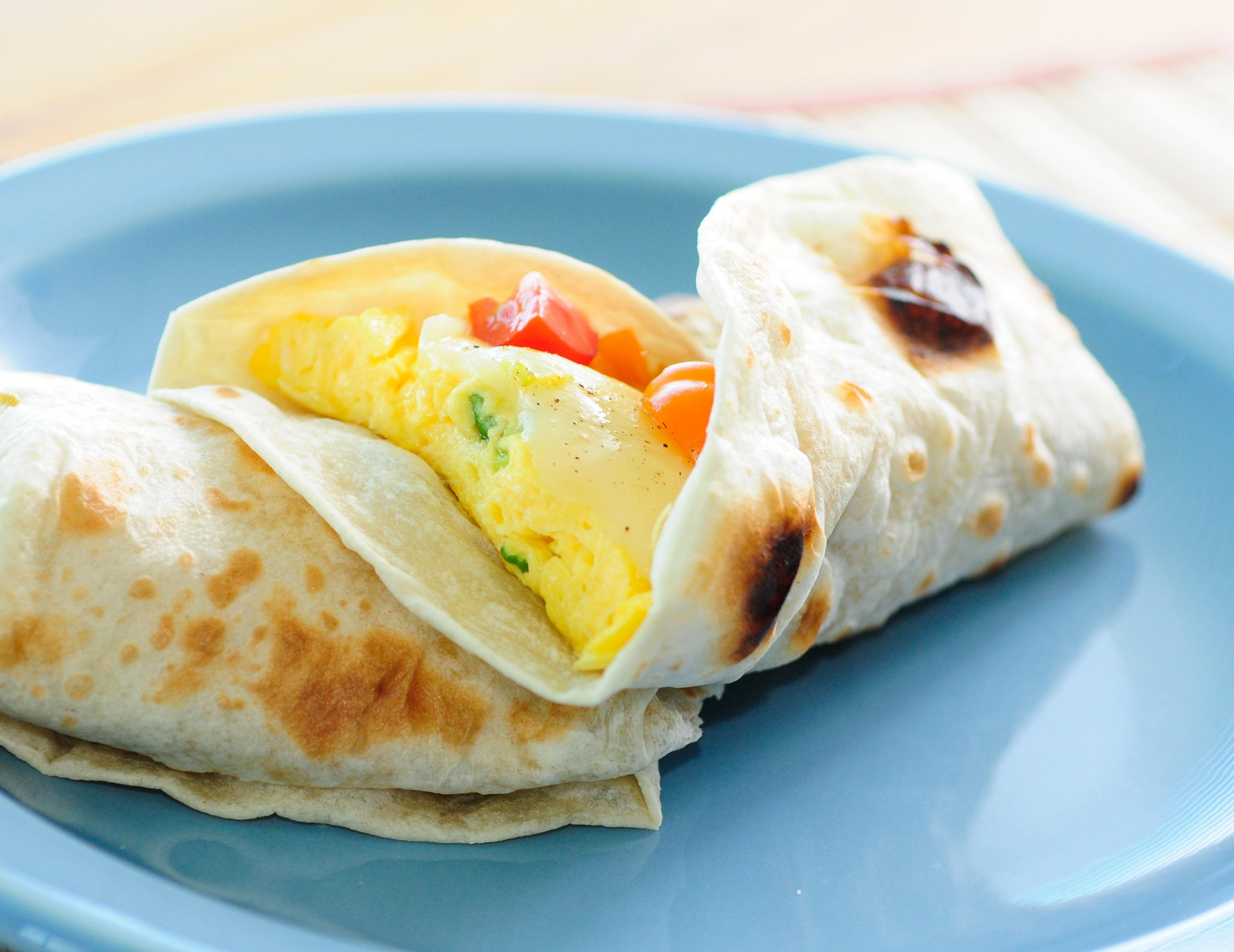 Vegetable Egg Fajitas