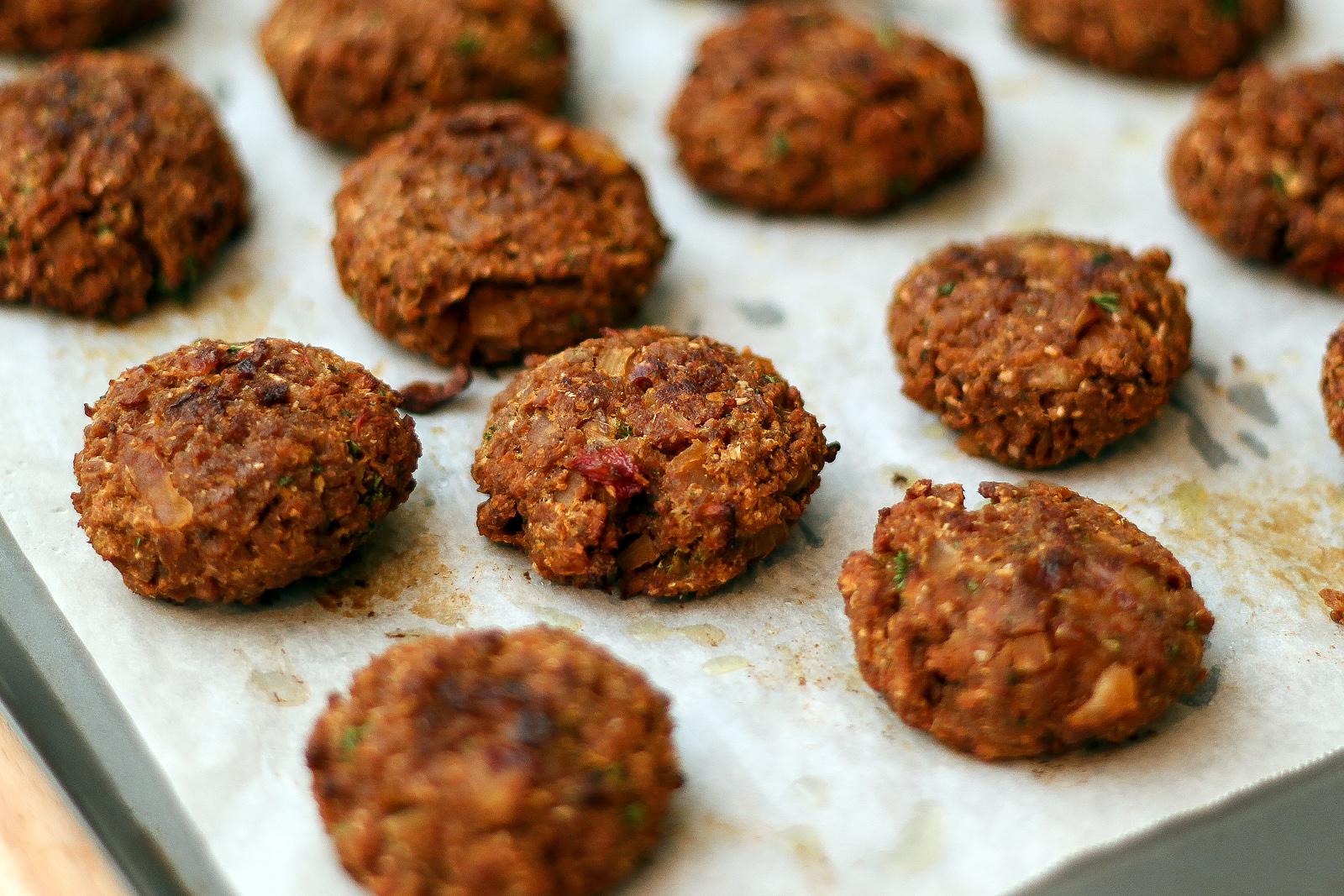Vegetarian Rissoles with Textured Vegetable Protein (TVP)