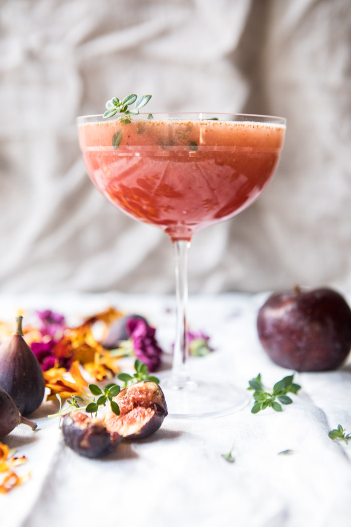Fig Honey Thyme Prosecco Smash