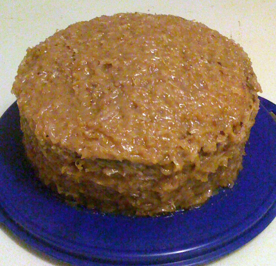 German Chocolate Cake with Coconut-pecan Frosting - BigOven