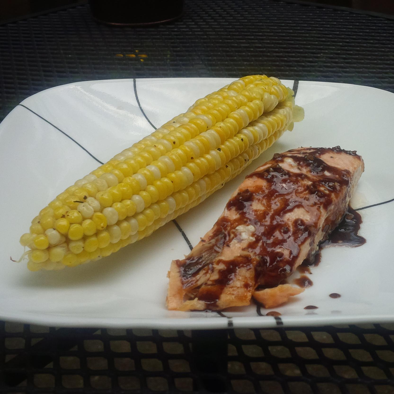 Grilled Balsamic-Glazed Salmon - BigOven