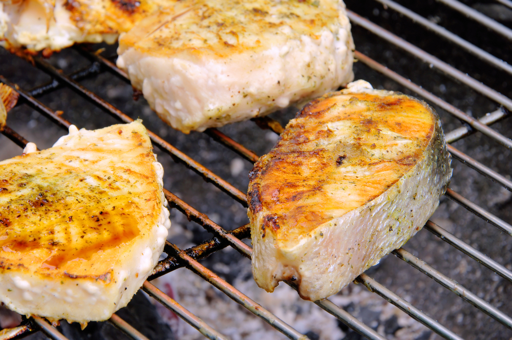 Grilled halibut with lime chipotle butter bigoven for How to cook halibut fish
